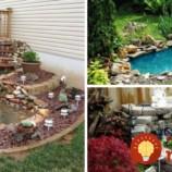 25 krásnych záhradných jazierok, ktoré si šikovní ľudia postavili vlastnými rukami!