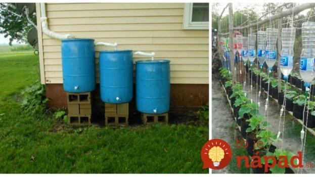 Ani kvapka nazmar: Dažďová voda je dar z nebies, takto ju využijete doma aj v záhrade!