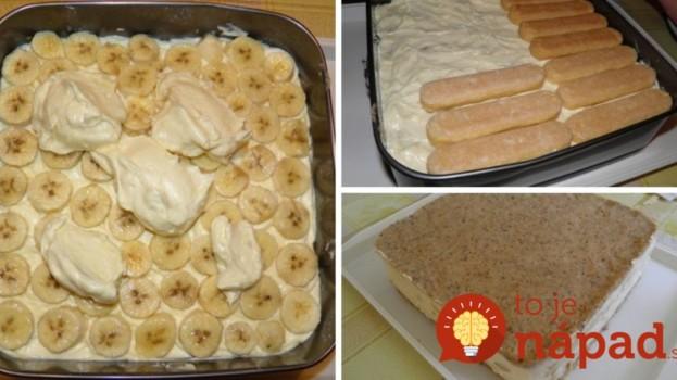 """Nepečená torta """"Banánovo-orechové pokušenie"""": Stačí ozdobiť a máte luxusný dezert aj pre oslávneca!"""