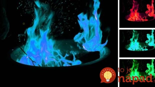 Tento trik ohúri všetkých na záhradnej párty: Stačí, ak do plameňa pridáte toto a začne meniť farbu!