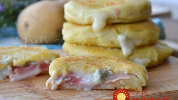 Neskutočne dobré mini-zemiakové placky plnené šunkou a syrom: A nie sú nasiaknuté olejom!