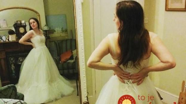 Žena kúpila obyčajné svadobné šaty a 61 hodín ich upravovala. Na ten pohľad však svadobní hostia nikdy nezabudnú!