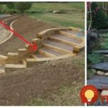 Títo ľudia majú na pozemku svah: Rozhodli sa, že na nich svojpomocne vybudujú schody a tento jednoduchý nápad celkom zmenil ich záhrady!