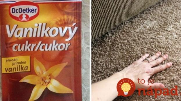 Našli ste doma vanilkový cukor po záruke? Rozsypte ho na koberec, ide o perfektný trik, účinok sa dostaví v momente!