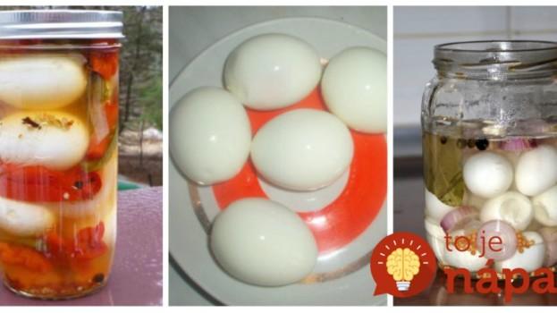 Keď budete nakladať zeleninu, pridajte do pohárov aj zopár vajec:Netreba zavárať a je to pochúťka ako hrom!