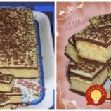 Ilonkine čarovné rezy: Výborný koláčik s dvomi druhmi cesta a mliečnym krémom!
