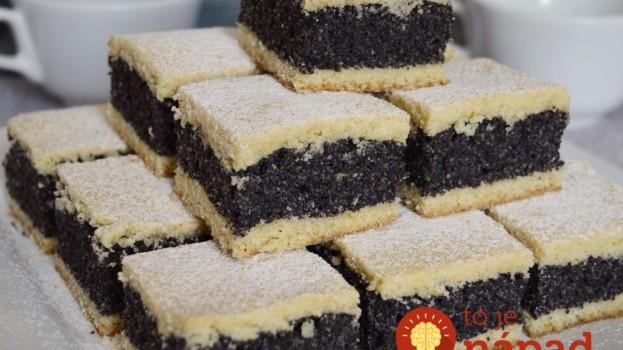 Makový koláčik podľa našich babičiek: Dlho vydrží a chutí tak fantasticky, že si ho budete chcieť dať znovu!