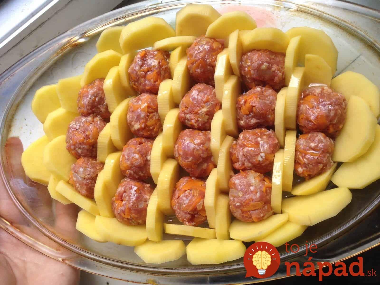 Картошка с тефтелями в духовке рецепт пошагово в