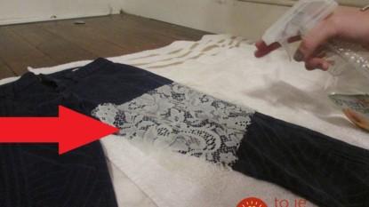 Zo starej záclony odstrihla kus, položila na nohavice a nastriekala touto zmesou: Keď uvidíte ten výsledok, pôjdete vybrať staré oblečenie zo skrine!