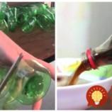 Mamička mala dosť plastových fliaš, ktoré sa každý deň hromadili v koši: Vzala nožnice a všetkým ukázala, že na tieto sviatky vám môžu ušetriť kopec peňazí!