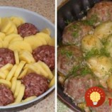 Stačí vám 250 g mäsa a nakŕmite celú rodinu: Sedliacky kastról s pečeným mäsom, zemiakmi a výbornou omáčkou!