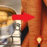 Keď budete nabudúce variť zemiaky, pridajte do vody aj kúsok mrkvy: Tento trik by mal počas zimy poznať každý, zapamätajte si ho!