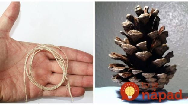 Šikovná Slovenka vyrába krásne vianočné dekorácie ako z obchodu, takmer zadarmo: Stačí jej len motúz, pár šišiek a starý náhrdelník!
