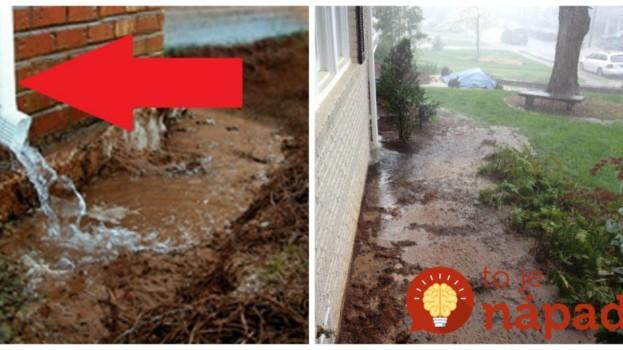 Vždy, keď pršalo, mali okolo domu plno vody a začali im vlhnúť múry: Títo ľudia vymysleli perfektný nápad, ako sa zbaviť vlhksoti askrášliť svoje domy úplne zadarmo!