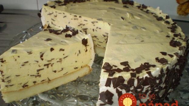 Neuveriteľne chutná Stracciatella torta: Za takýto dezert by ste si v cukrárni poriadne priplatili!