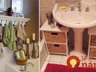 Skvelé nápady, kam odložiť veci v malých kúpeľniach: Tip číslo 7. budete chcieť aj vo svojom byte!