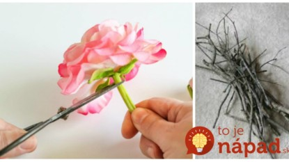 Najkrajšia ozdoba na vchodové dvere: Vezmite lacné umelé kvety, kúsok kartónu a konáriky – krajší nápad nenádjete!