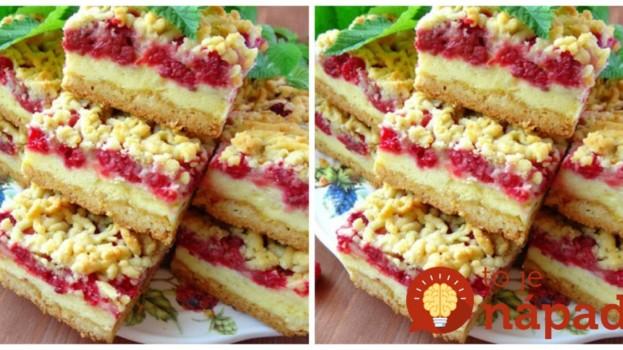 Strúhaný pudingový koláč s malinami: Jeden fantastický dezert, ktorý tromfne aj luxusné zákusky!