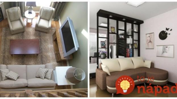 21 krásnych riešení pre malé obývačky: Pozrite, ako geniálne môžu vyzerať!