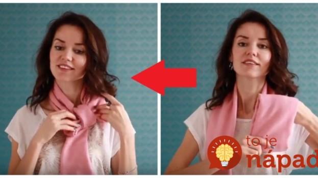 Dámy, toto je na jar fantastické: 5 neobvyklých nápadov, ako si uviazať šatku, alebo šál!