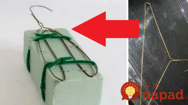 Zabudnite na veniec: Vezmite drôtený vešiak, kus aranžérskej hmoty a máte tú najkrajšiu ozdobu na vchodové dvere!