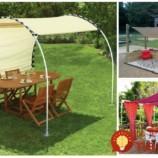 Nemusíte utrácať stovky Eur za drahé altánky: 17 perfektných nápadov, ako s v záhrade poistiť tieň počas celej sezóny!