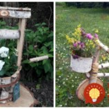 Vezmite pár drevených polienok a kvety: Inšpirácie na utešené záhradné dekorácie, ktoré bude obdivovať každý!