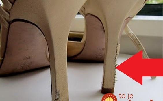 Dámy, vyzerajú opätky na obľúbených topánkach takto? Nevyhadzujte ich, perfektný trik ako ich zachrániť!