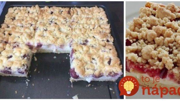 Na toto sa nechytá ani letná bublanina: Úžasný drobenkový koláčik s pudingom a sezónnym ovocím!