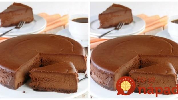 Táto čokoládová torta valcuje internet: Bez varenia, bez pečenia a zatieni aj pečený cheesecake!