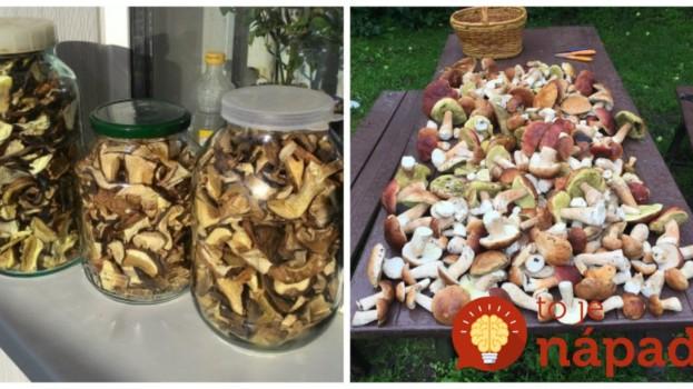 Rada skúsených hubárov: Ak urobíte s hubami toto, ostanú v perfektnom stave na celé mesiace!