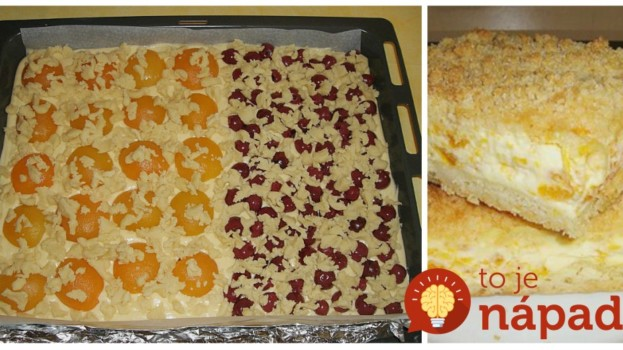 Babičkin mrvený koláč s pudingom a ovocím: Netreba robiť cesto, stačí len zaliať horúcim pudingom a pridať ovocie!