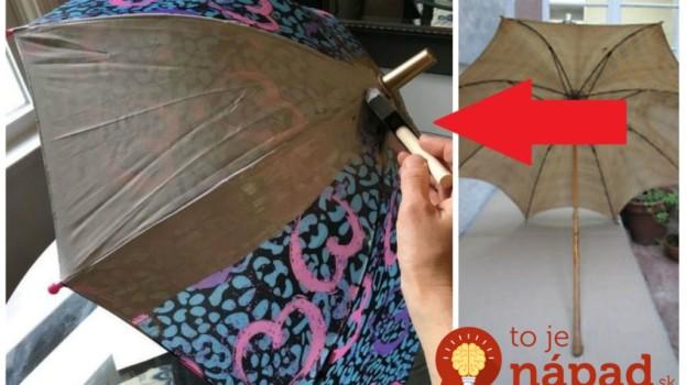 Vzala dáždnik po deťoch, ktorý nikto nepoužíval: Ak chystáte oslavu, toto vám ušetrí kopec peňazí za drahú výzdobu!