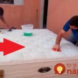 Perfektný trik, ako vydezinfikovať všetky matrace za 1 minútu: A po zatuchnutom zápachu a špine ani stopy!