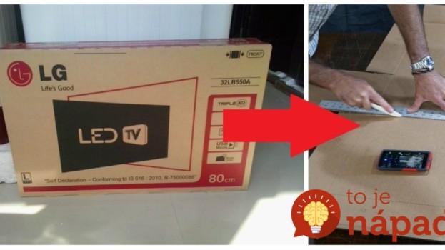 Keď vybalili televízor, otecko kartónovú krabicu nevyhodil, ale pustil sa do práce: Neuveríte, čo našla rodina v obývačke!
