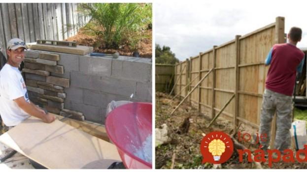 Perfektné nápady, ako zakryť škaredý susedov plot, alebo betónový múr v záhrade: Ten rozdiel je ohromný!