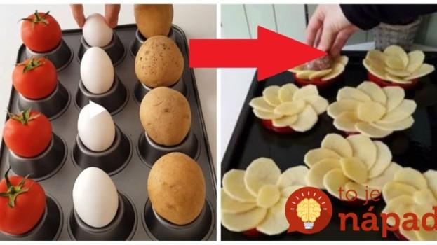 Vzal 4 zemiaky, vajcia a rajčiny: Keď uvidíte nápad tohoto šéfkuchára, ani vám nenapadne robiť pre návštevy chlebíčky!