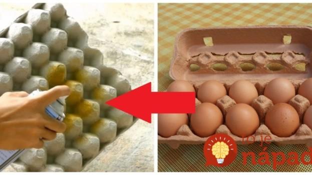 Vzala obyčajný kartón od vajec a každú stranu nastriekala inou farbou: Toto môžete mať na stole doslova za pár centov!