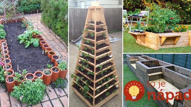 17 úžasných nápadov na vyvýšené záhony: Skrášlia záhradu a keď príde na zber, netreba sa toľko ohýbať!