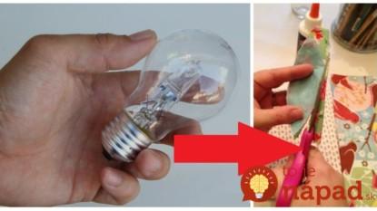 Táto babička nikdy nevyhadzuje vypálené žiarovky: Vezme nožnice, trochu látky a vytvára takúto nádheru pre deti!