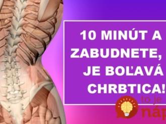 10-minútová záchrana pre chrbticu: Fyzioterapeut ukázal najjednoduchší spôsob, ako pomôcť boľavej chrbtici!