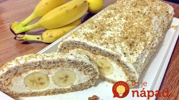 Nejde do nej ani gram múky a je neskutočne chutná: Roláda Banana Split – na každej oslave má obrovský úspech!