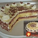 Torta Banana Split: Spravila som ju na víkendovú oslavu a všetci sa za ňou išli zblázniť – najlepšia, akú som jedla!