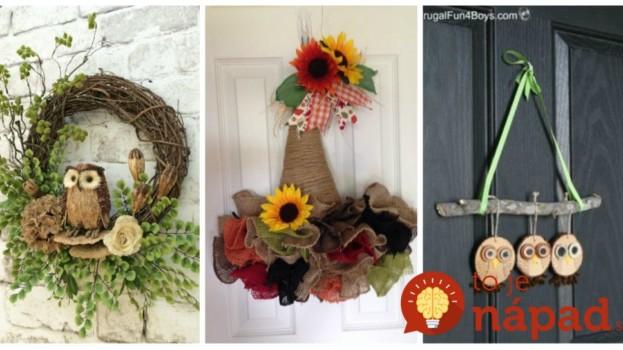 31 prekrásnych nápadov, ako si na jeseň vyzdobiť vchodové dvere a verandu!