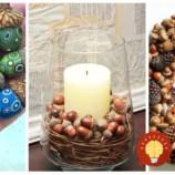 23 prenádherných nápadov na jesennú dekoráciu, vďaka ktorým začnete zbierať opadané žalude: Jedna krajšia, ako druhá!