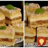 V ceste nie je žiaden cukor: Snehová búrka – úžasne krémový jablkový koláč na ktorý vám netreba tvaroh ani šľahačku!