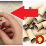 Táto mamička papierové rolky nevyhadzuje, ale každú takto nastrihá: Neuveríte vlastným očiam, čo z nich vymyslela