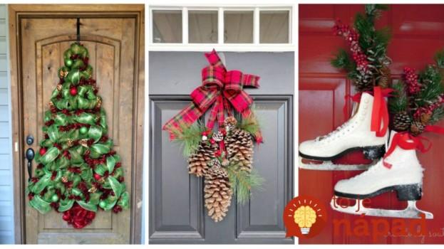 Nemusí to byť len klasický veniec: 25 úžasných nápadov, ako si vyzdobiť vchodové dvere na blížiaci sa advent!