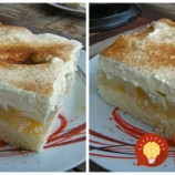 Balkánsky jablkový koláč – torta na plechu: Tá piškóta je jemná ako vata, používam ju aj na zákusky a torty!