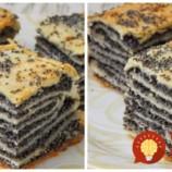 Ruský makový koláč z 1 vajíčka- naozaj luxusný: Stačí cesto takto poskladať a posypať náplňou, chuť neskutočná!